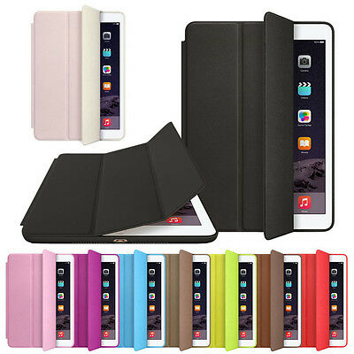 For Apple iPad Air 2 Leather Smart Case Magnetic Cover Slim Wake Protector Cheap