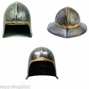 Image is loading Medieval-Open-Face-Type-Knight-Helmet-Fancy-Dress-  sc 1 st  eBay & Medieval Open Face Type Knight Helmet Fancy Dress Hat Costume ...