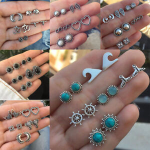 1-3-6-9-12pairs-Pearl-Rhinestone-Crystal-Ear-Stud-Earrings-Women-Fashion-Jewelry