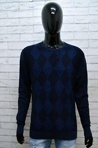 TOMMY-HILFIGER-Uomo-Taglia-L-Maglione-Lino-Linen-Pullover-Sweater-Man-Cotone