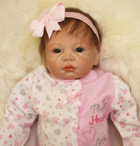 22 inch Realistic Reborn Dolls Lifelike Baby Girl Newborn Toddler Lovely Gifts