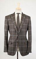 Ermenegildo Zegna Zero Weight Brown Wool Sport Coat 54/44r Drop 7 $2795 on Sale