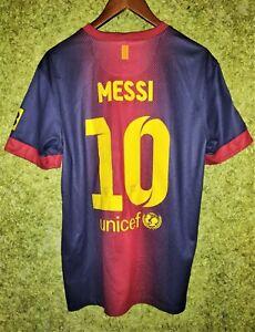 BARCELONA SPAIN 2012 2013 HOME FOOTBALL SHIRT JERSEY #10 MESSI NIKE SIZE M
