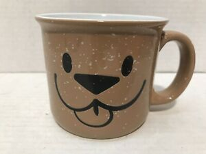 New Brown Tan Speckled Woof Coffee Cup Mug Dog Puppy Ebay