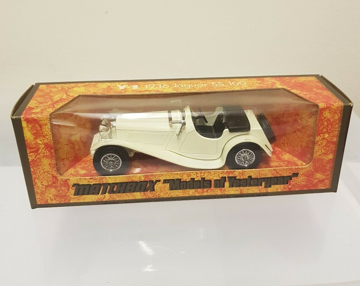 MATCHBOX LESNEY YESTERYEAR Y1 1936 JAGUAR SS-100