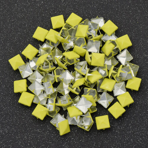 100 Pcs Pyramid Studs Alloy Making Accessories for Bag Belt Leathercraft DIY
