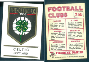 DISTINTIVO-Celtic-SCOZIA-FOOTBALL-CLUBS-75-ed-PANINI-NUOVO-ORIGINALE-n-255