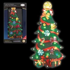 Large Window Christmas Tree Led Light Up Sign Battery Operated Xmas