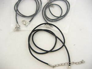 brown Leather Round Thong Necklace Cords with Lobster Clasp finished cord thong