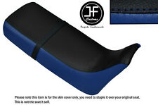 ROYAL BLUE BLACK VINYL CUSTOM FOR HONDA XRV 650 AFRICA TWIN RD03 DUAL SEAT COVER