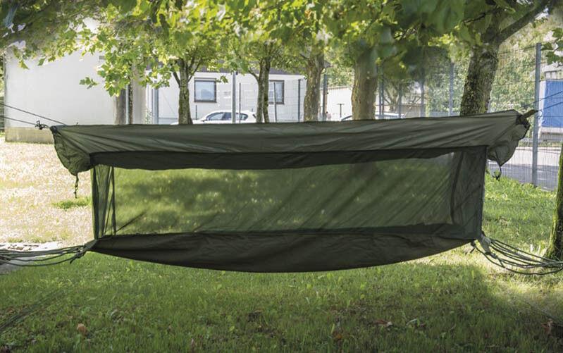 Mil-Tec Hängematte Jungle + Moskitonetz Sonnenliege Hängeliege Oliv 220x75x55cm