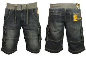 Mens Kam Big King Size Combat Cargo  Denim Shorts Fashion Summer Stylish 40-60
