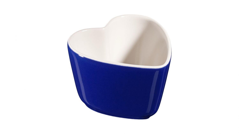 Staub Ceramic XS Set of Two Mini Mold Ramekin Dessert Dish Dark bluee 8 CM