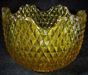 Vintage-Amber-Glass-Sconce-Lamp-Shade-Sawtooth-Motif-1-1-4-034-Fitter-Rim-3-034-High