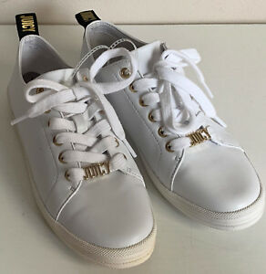 NEW-JUICY-COUTURE-WOMEN-039-S-MONICA-WHITE-LEATHER-SNEAKERS-SHOES-7-37-SALE