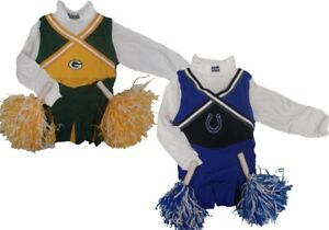 Pom-Poms /& 1 Single Hair Tie NFL /& NCAA Girls Cheerleader Set
