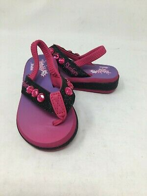 NEW Skechers Toddler Girl/'s  TWINKLE TOES SUNSHINES Black//Pink #10752 H19C am