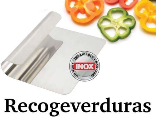 RECOGE ALIMENTOS INOXIDABLE 14x12cm recogedor de verduras,espatula,pala verdura