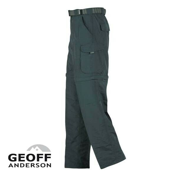 Geoff Anderson Zip Zone leichte Allroundhose Beine abzippbar grün oder schwarz