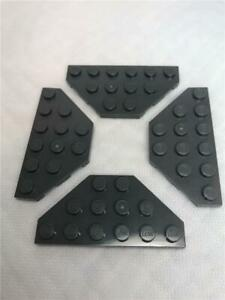 LEGO Lot of 4 White 3x6 Cut Corner Plate Pieces