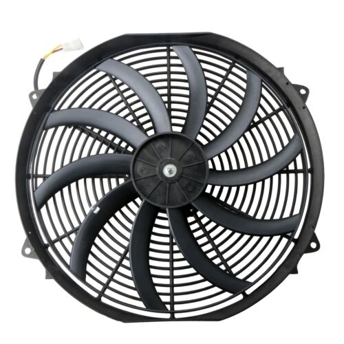16 inch Universal Slim Fan Push Pull Electric Radiator Cooling 12V w// Mount Kit