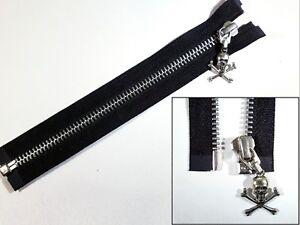 Zip Zipper Medium Weight YKK Standard Puller Closed End Metal Black