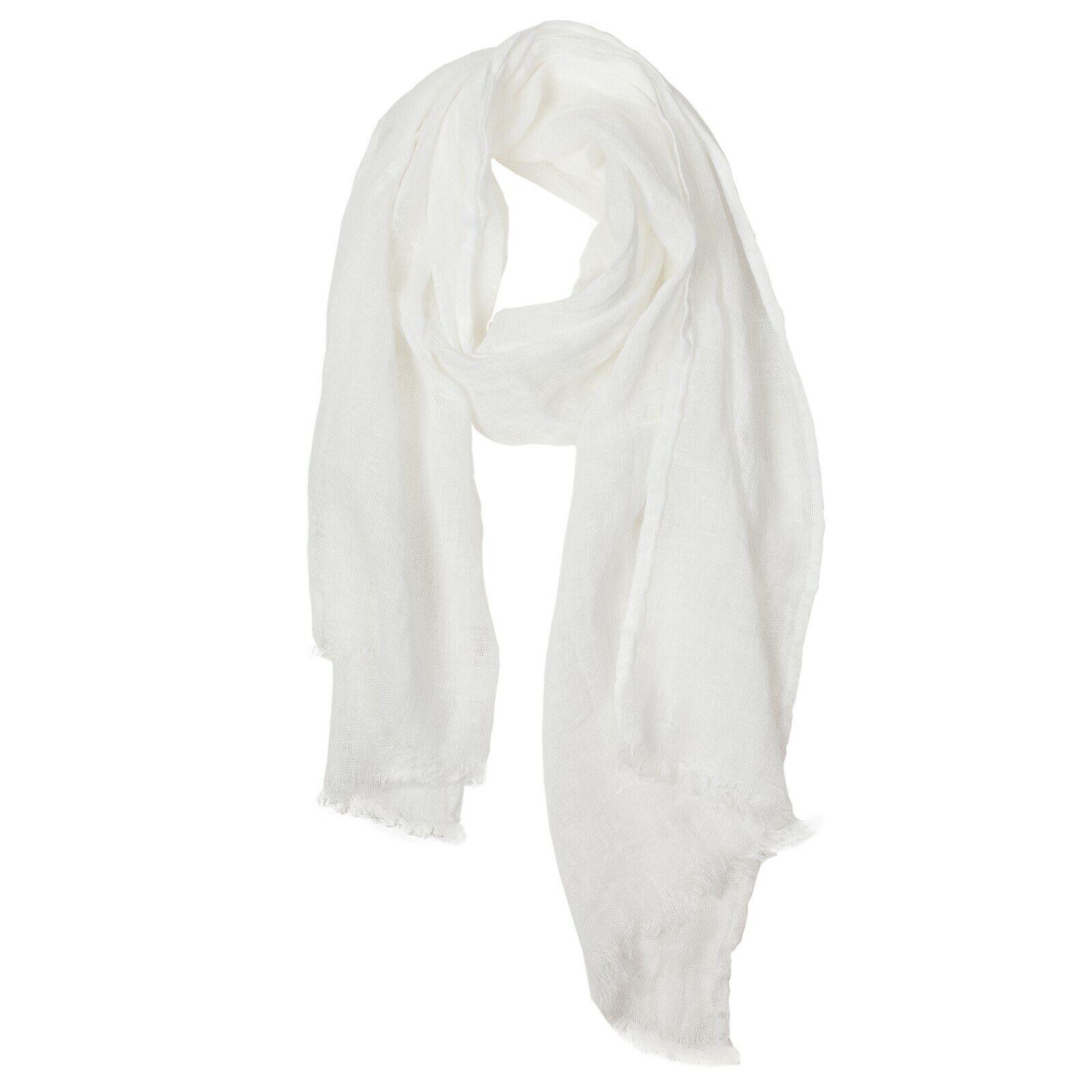 Women Big Tartan Scarf Wrap Shawl N4D7 creamy-white