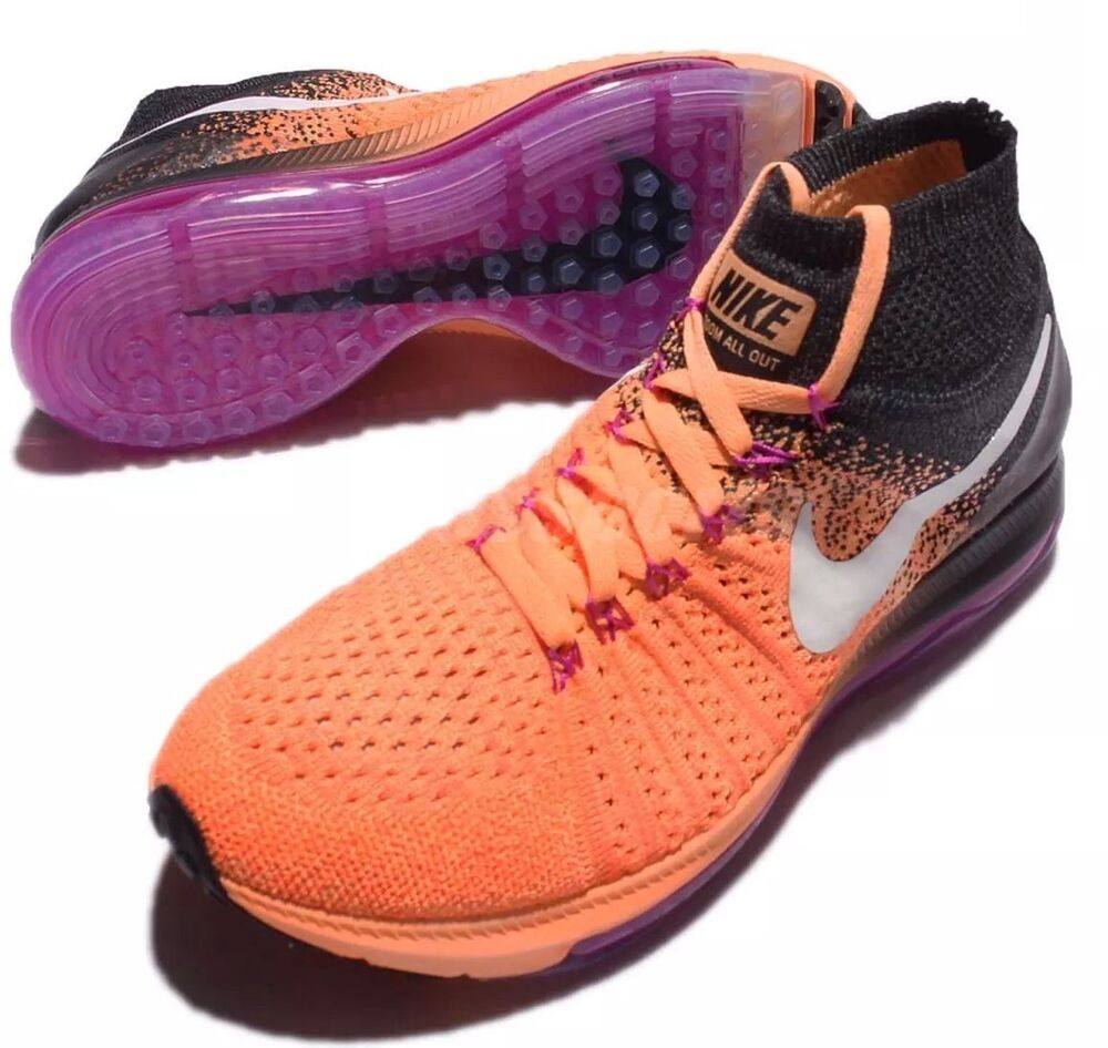 Actif Nike Femmes Zoom Tous Dehors Flyknit Chaussures Baskets Uk 6.5 Eur 40.5 Us 9 Une Performance SupéRieure