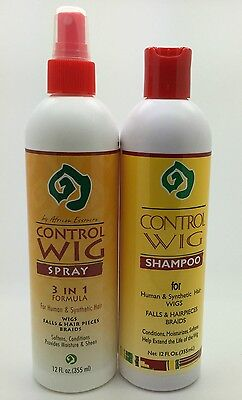African Essence Wig Control Spray and Shampoo (For Human & synthetic hair) 12 Oz