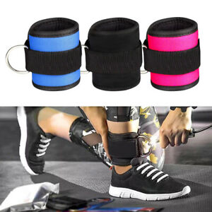 Padded-Ankle-Straps-for-Cable-Machines-Strength-Fitness-Leg-Glute-With-D-Ring