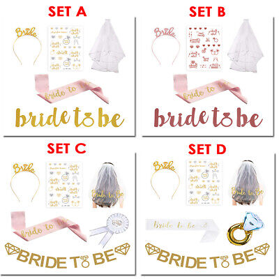 Hen Party Set with Tattoos Hen Do Accessories for Bridal Shower Hen Party Decoration Naler Bride to Be Sash and Veil