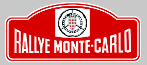 ra035 Full Range Of Specifications And Sizes And Great Variety Of Designs And Colors Sporting Plaque Rallye Monte-carlo Autocollant Sticker 15cmx6,5cm Famous For High Quality Raw Materials