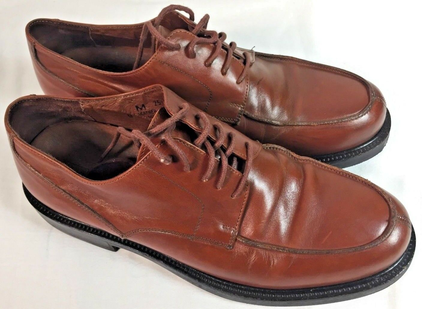 Johnston & Murphy Express Made In Italy Men's Brown Leather Derby Shoe Oxford 9M