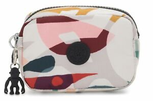 Kipling-Basic-Gleam-pouch-s-cosmeticos-bolso-bolso-Music-print-blanco-rosa-nuevo