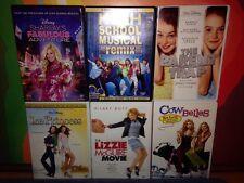 DISNEY 100% dvd lot of 6 Girls Must See!!! Princess Lizzie Plus