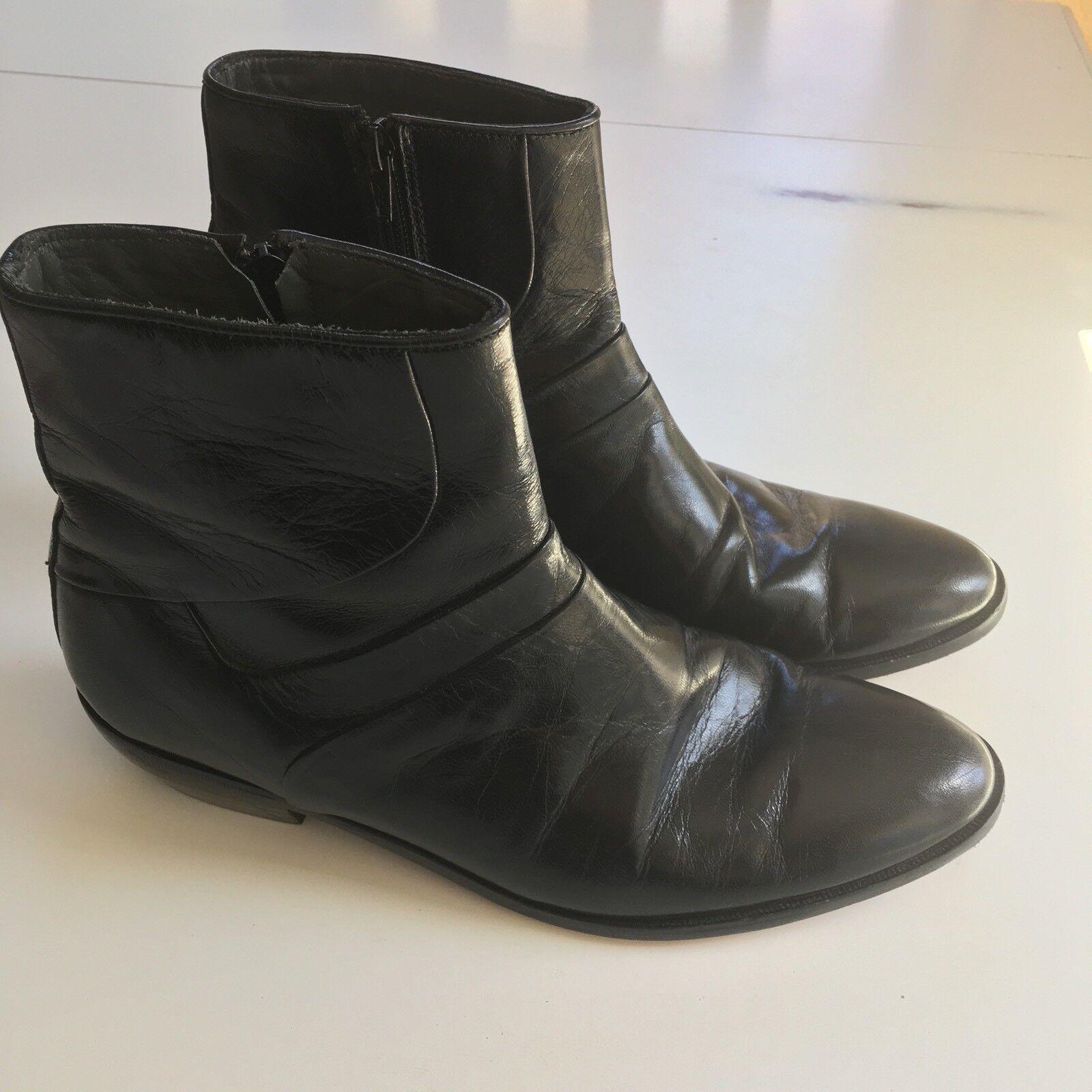 David Taylor Fine Leather Side Zipper Ankle Boots Excellent Condition 9.5 D