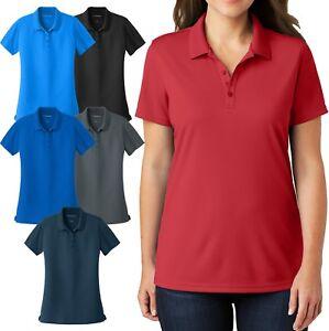 Ladies-Plus-Size-UV30-Polo-Shirt-Moisture-Wick-Mini-Mesh-Womens-Top-XL-2X-3X-4X