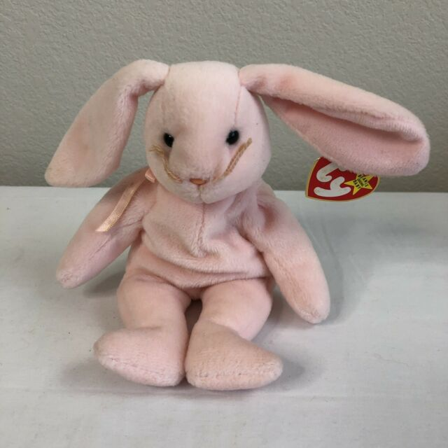 Ty Hoppity the Rabbit Original 1996 Retired Beanie Babies Doll Toy Plush