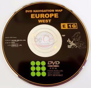 Toyota-Lexus-ORIGINAL-Navigation-DVD-E1G-2018-West-Europa-Europe-Update-Map
