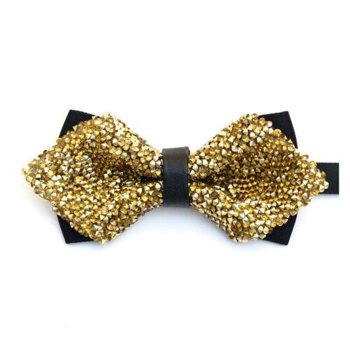 Men/'s Adjustable Bow Tie Tuxedo Glitter Wedding Party Accessories Gift Clip-On