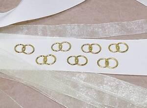 25 Eheringe Hochzeit Goldene Ringe Dekoringe Gold Doppelringe Ring Streudeko Auswahlmaterialien Scrapbooking Hochzeitsdekoration