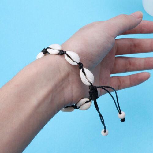 Charm Handmade Natural Sea Shell Bracelet Hand Knit Hommes Femmes Shell Bracelet