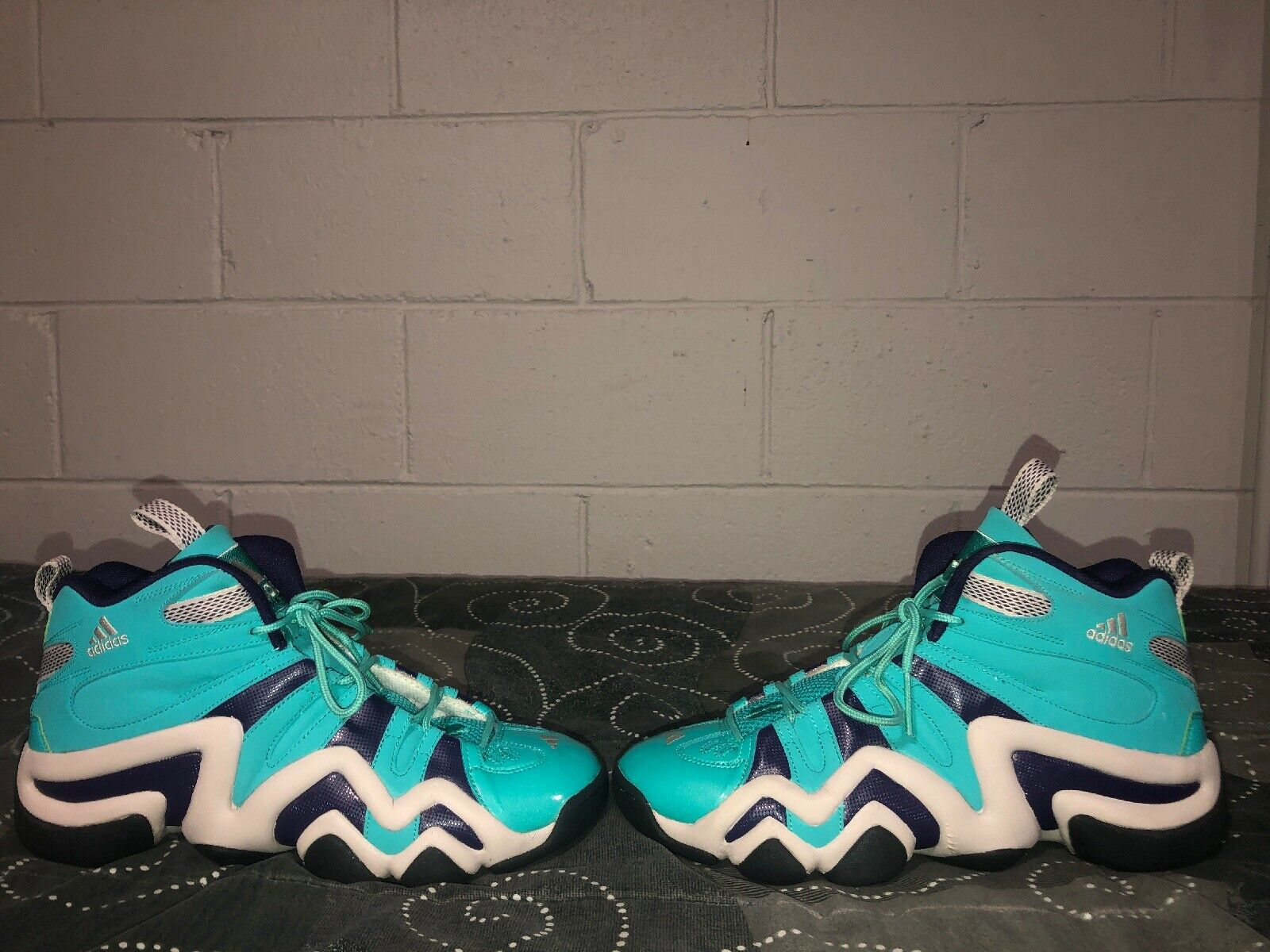 5cabcf81f Adidas Crazy 8 Mens Basketball shoes Size 10.5 Turquoise Purple Kobe Bryant