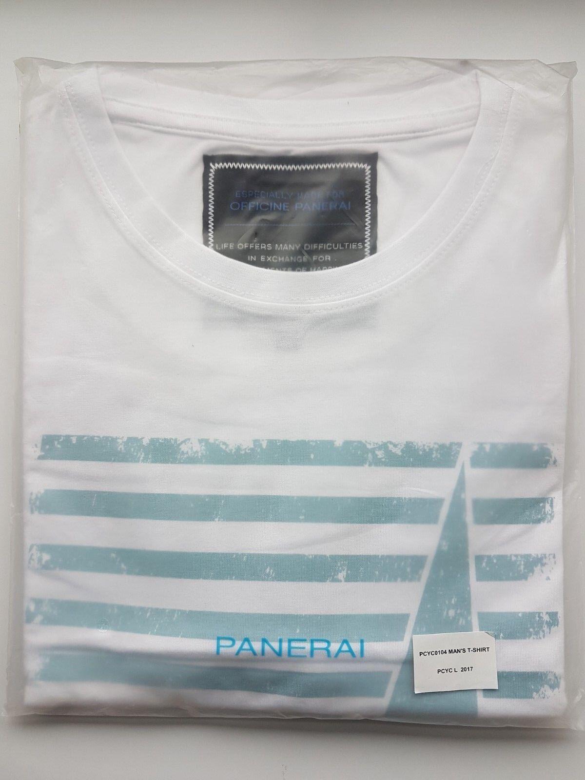 Panerai White Classic Yachts Challenge T-Shirt Large Sealed PCYCL2017