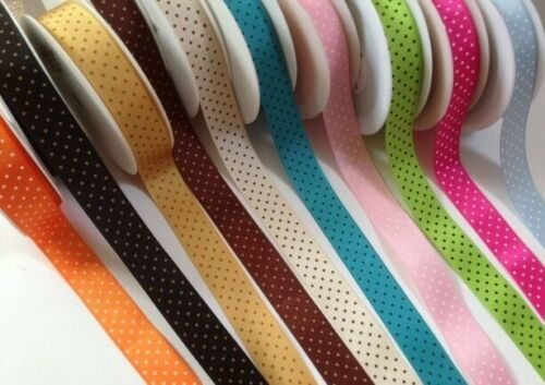 SOOO SPOTTY Grosgrain ribbon 22mm Var lengths// 11 colours ** LAST STOCK **