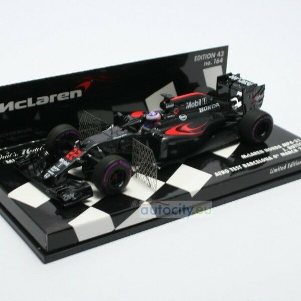 MINICHAMPS MCLAREN HONDA MP4-31 JENSON BUTTON AERO TEST BARCELONA 4TH  537164222