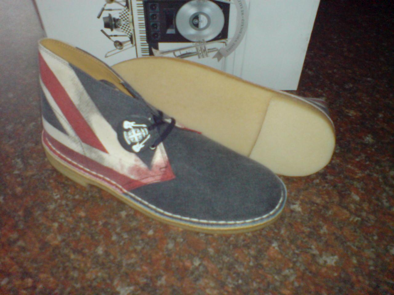Clarks Original  Desert botas , JACK Combi Leather  UNION JACK ,  6,7,8,10,12 F 6490ac
