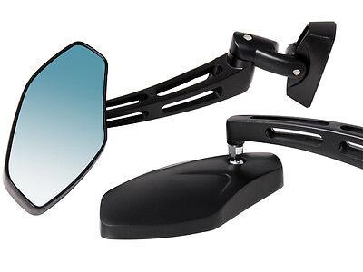 Black Billet Rear View Side Mirrors For Kawasaki Ninja ZX6R ZX10R Yamaha R1 R6