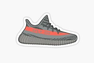 Image is loading Adidas-Yeezy-Boost-350-V2-Beluga-Sticker-decal-