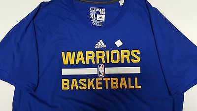 factory authentic 68d71 aea07 GOLDEN STATE WARRIORS ON COURT WARMUP ADIDAS SHIRT BLUE MENS ADIDAS 2X TALL  | eBay